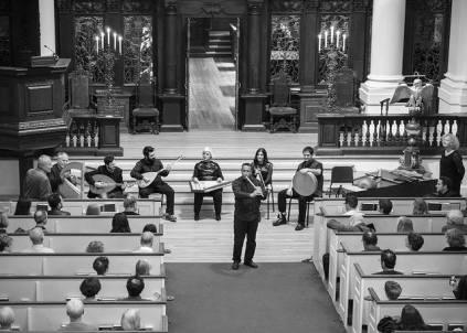 Refugee benefit concert, 10/23/2015: Boujemaa Razgui charming the Harvard crowd