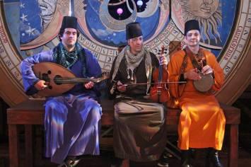 Sharq Ensemble 2011 on the stage w/ Revels with Karim Nagi and Albert Agha